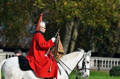 Changing of the guard in Buckingham Palace Royalty Free Stock Photography