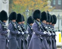 Changing of the guard in Buckingham Palace Royalty Free Stock Image