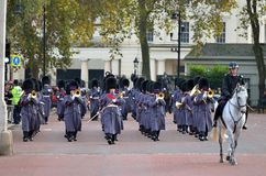 Changing of the guard in Buckingham Palace Stock Photos