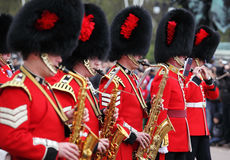 The changing of the guard at Buckingham Palace Stock Photos