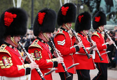 The changing of the guard at Buckingham Palace Royalty Free Stock Image