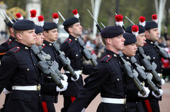 The changing of the guard at Buckingham Palace Stock Images