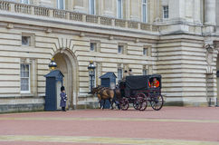 Changing of the guard in Buckingham Palace in London Stock Photography