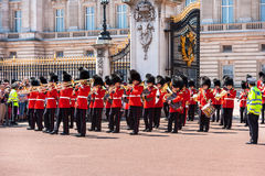 The changing of the Guard at Buckingham Palace, London, UK Stock Photography