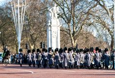 Changing of the guard in Buckingham Palace in London Royalty Free Stock Image