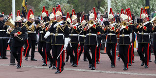 The changing of the guard at Buckingham Palace, London, United Kingdom. Royalty Free Stock Photo