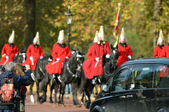 Changing of the guard in Buckingham Palace. Stock Images