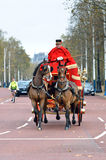 Changing of the guard in Buckingham Palace. Stock Photo