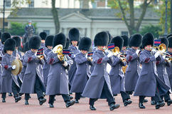 Changing of the guard in Buckingham Palace. Royalty Free Stock Photo