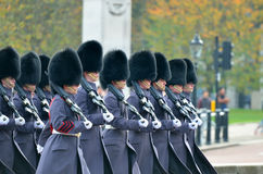 Changing of the guard in Buckingham Palace. Royalty Free Stock Photography