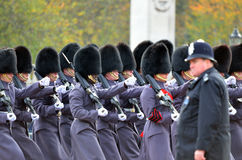Changing of the guard in Buckingham Palace. Stock Photos