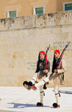 Changing of the Guard ceremony, Athens Stock Image
