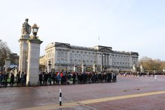 Changing of the Guard ceremony at Buckingham Palace royalty free stock image