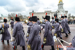 The changing of the guard ceremony at Buckingham Palace Stock Photos