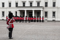 Changing of the guard ceremony at Buckingham Palace, London, UK Stock Photo