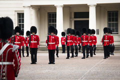 Changing of the guard ceremony at Buckingham Palace, London, UK Royalty Free Stock Images
