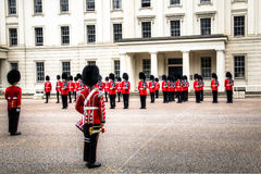 Changing of the guard ceremony at Buckingham Palace, London, UK Royalty Free Stock Photography