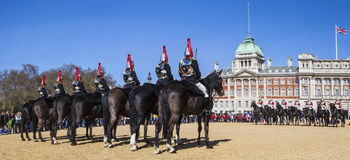 Changing of the Guard Ceremony in London Stock Photo