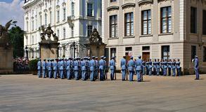 Changing the Guard Ceremony at Prague Castle Royalty Free Stock Photography