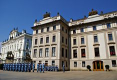Changing the Guard Ceremony at Prague Castle Royalty Free Stock Photo