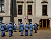 Changing the Guard Ceremony at Prague Castle Royalty Free Stock Image