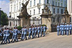 Changing the Guard Ceremony at Prague Castle Stock Photography