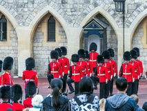 Changing Guard Ceremony takes place in Windsor Castle. Stock Photography