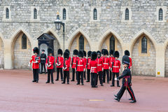 Changing guard ceremony in Windsor Castle,  England Stock Image