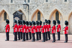 Changing guard ceremony in Windsor Castle,  England Royalty Free Stock Photography