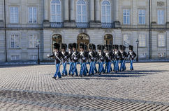 Changing of the guard in Copenhagen, Denmark Stock Images