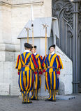 Changing of guard famous Swiss Guard in Vatican Royalty Free Stock Photos