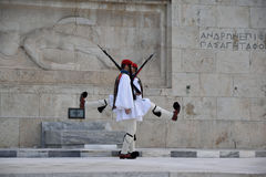 Changing the guard at the Greek Parliament Stock Photography