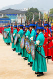 Changing of the Guard at Gyeongbokgung Palace Stock Images