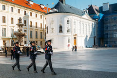 Changing of the guard of honor guards at the Stock Images