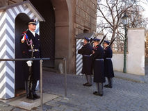 Changing of the guard of honor guards at the Presidential Palace Stock Photo