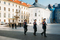 Changing of the guard of honor guards at the Presidential Palace Stock Photography