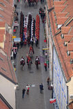 Changing of the guard honorary Cravat Regiment on the occasion of `World Cravat Day`, Zagreb. Croatia on October 16, 2016 Stock Photography