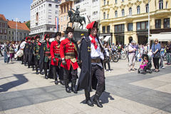 Changing of the guard honorary Cravat Regiment Stock Photos
