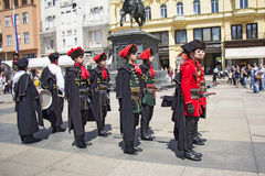 Changing of the guard honorary Cravat Regiment Stock Images