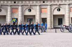 Changing the  guard of honour. Stockholm. Sweden Stock Photography
