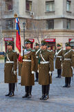 Changing of the Guard at La Moneda Royalty Free Stock Images