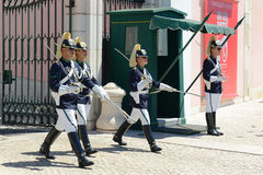 Changing of Guard in Lisbon, Portugal Royalty Free Stock Photos