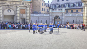 Changing of the guard near the royal palace. Sweden. Stockholm Stock Photo
