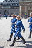 Changing of the guard near the royal palace. Sweden. Stockholm Stock Image