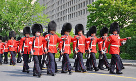 Changing of Guard in Ottawa, Canada Royalty Free Stock Photos