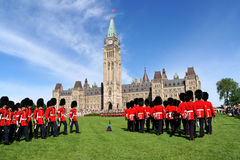 Changing of the guard in Ottawa, Canada Stock Image
