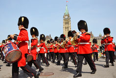 Changing of Guard in Parliament Hill, Ottawa royalty free stock image