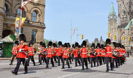 Changing of Guard in Parliament Hill, Ottawa Stock Photography