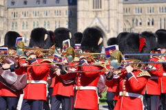 Changing of Guard in Parliament Hill, Ottawa royalty free stock images