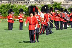 Changing of Guard in Parliament Hill, Ottawa Royalty Free Stock Photos